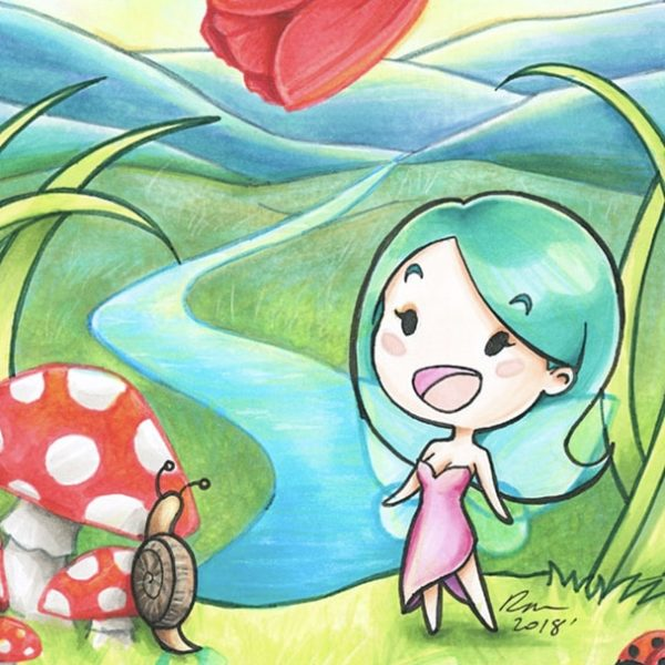 Mini Ren in Faerie Land Artwork Thumbnail