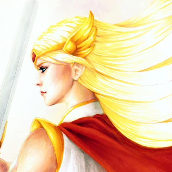 She-Ra Fan Art of Adora as her alter ego holding the Sword of Protection