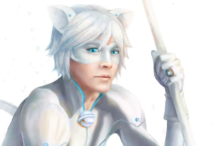 Chat Blanc Artwork of Chat Noir Akumatized from Miraculous Ladybug